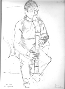 sketch-of-recorder-playing