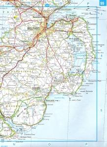 Map of Ards Peninsula