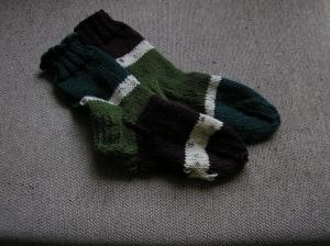 Socks from stash yarn