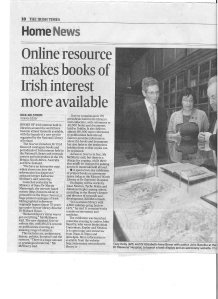 Online for references of Irish interest