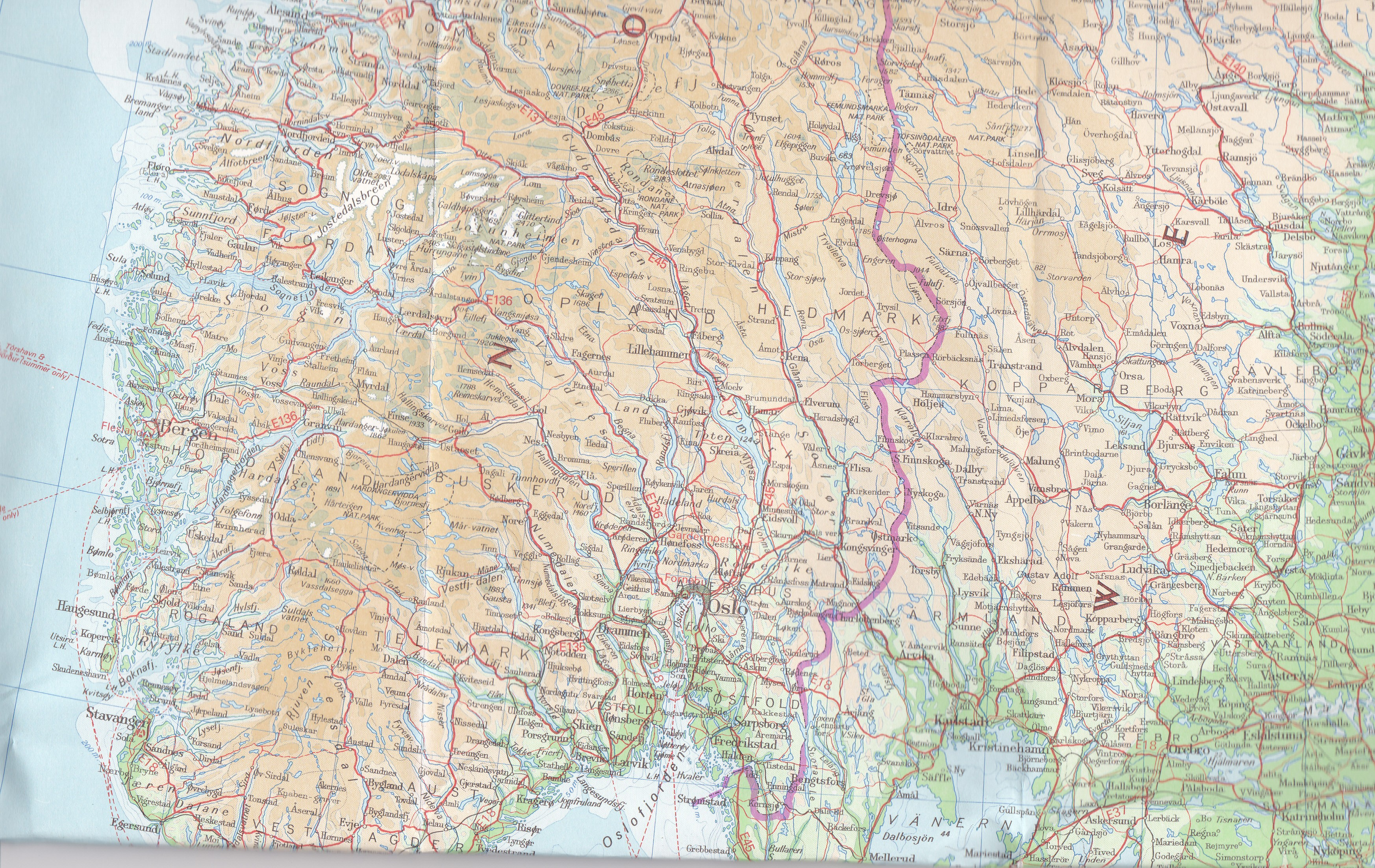 American youth hostels ayh janets thread its not easy to read the map but above are a few of the places bergen voss the hardanger fjord geilo gol oslo i cant seem to find eidfjord but im publicscrutiny Image collections
