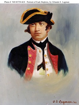 Commodore Esek Hopkins (1718-1802), Commander in Chief of the Continental Navy