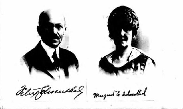 Felix and Margaret Schoenthal from 1919 passport application, National Archives and Records Administration (NARA); Washington D.C.; NARA Series: Passport Applications, January 2, 1906 - March 31, 1925; Roll #: 728; Volume #: Roll 0728 - Certificates: 70500-70749, 19 Mar 1919-20 Mar 1919