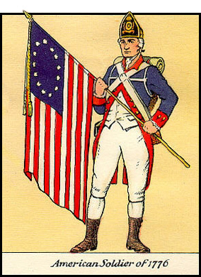 38d American soldier of 1776