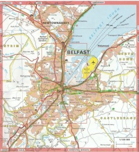 From the Michelin map of Ireland - City of Belfast