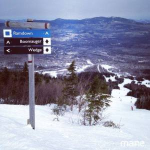 ski trails at Sugarloaf