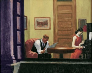 edward hopper room in new york 1932