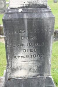 James Murdock grave marker 2