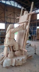 weaver carving