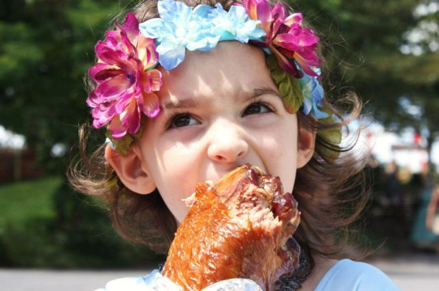 The Floral Headdress and the Proverbial Turkey Leg