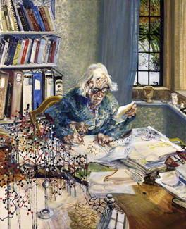 NPG 5797; Dorothy Hodgkin by Maggi Hambling