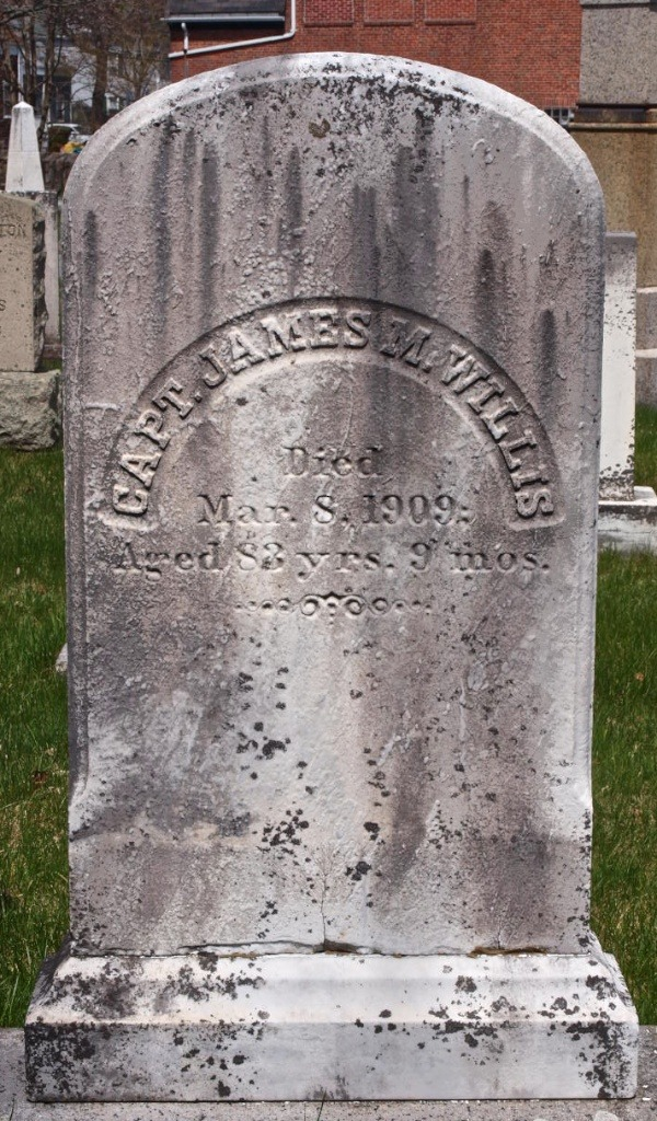 Gravestone Capt James Munroe Willis