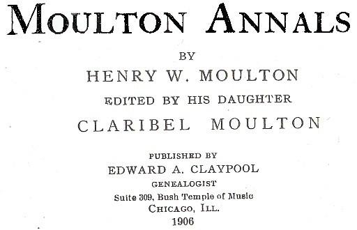 Moulton Annals by H W Moulton