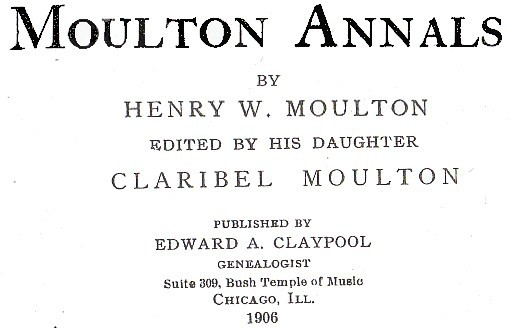 Moulton Annals by H W Moulton