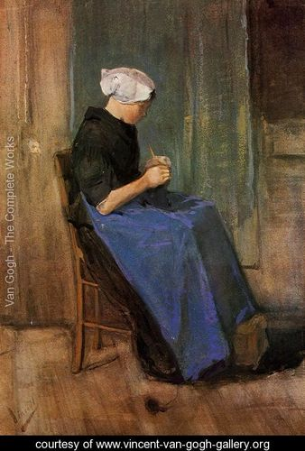 Young-Scheveningen-Woman-Knitting