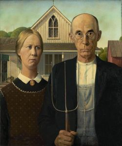 iconic image by grant wood