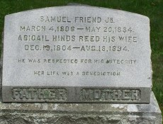 Abigail grave marker