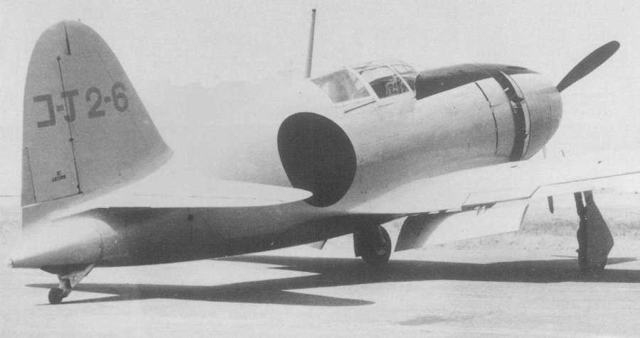 Mitsubishi J2M1 Raiden prototype - the three J2M1 Raiden prototypes flew for the first time on March 20th, 1942