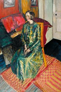 Dame Edith Sitwell 1916 by Alvaro Guevara 1894-1951