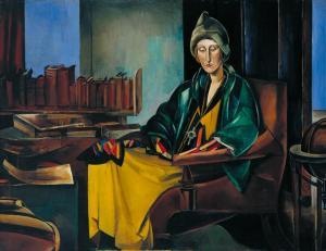 Edith Sitwell 1923-35 by Wyndham Lewis 1882-1957